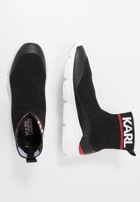 KARL LAGERFELD - VERGE PULL ON RUNNER - Vysoké tenisky - black - 1
