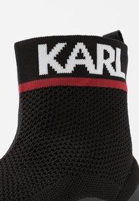 KARL LAGERFELD - VERGE PULL ON RUNNER - Vysoké tenisky - black - 5