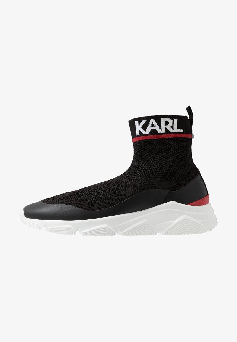 KARL LAGERFELD - VERGE PULL ON RUNNER - Vysoké tenisky - black