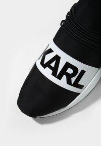 KARL LAGERFELD - VEKTOR BAND RUNNER - Trainers - black/white - 5
