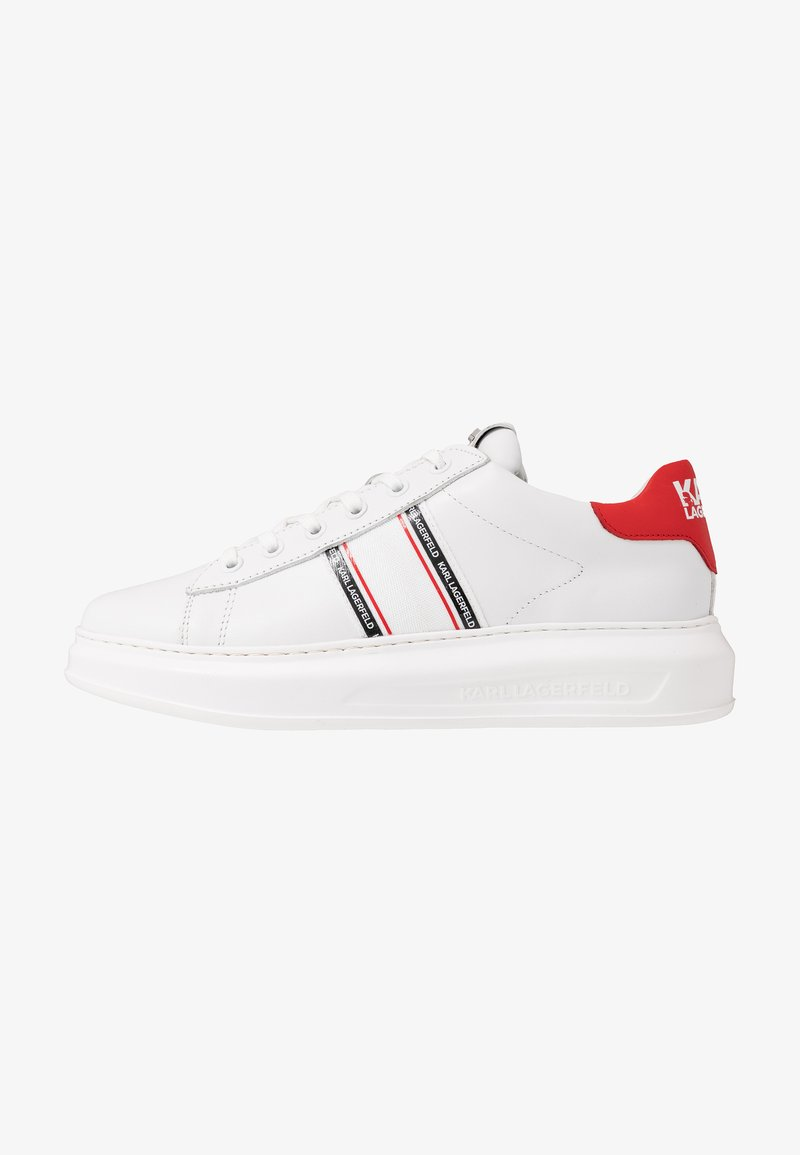 KARL LAGERFELD - KAPRI MENS STRIP LOGO LACE  - Zapatillas - white