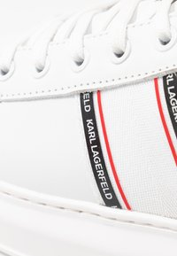 KARL LAGERFELD - KAPRI MENS STRIP LOGO LACE  - Zapatillas - white - 5