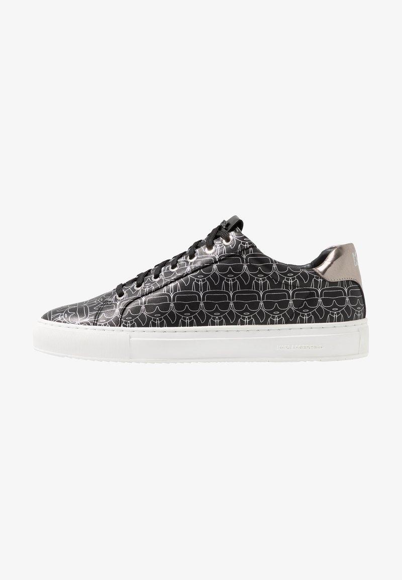 KARL LAGERFELD - KUPSOLE IKON PRINT LACE - Sneaker low - black/silver