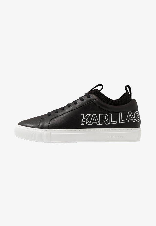 SKOOL BRUSH LOGO LACE - Sneakers laag - black