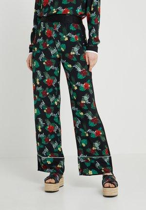 HAWAII LOGO PANTS - Bukse - black