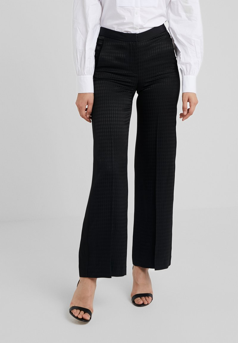 KARL LAGERFELD - PANTS HEAD - Pantalones - black