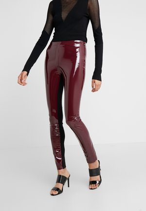 PATENT - Leggings - Trousers - burgundy