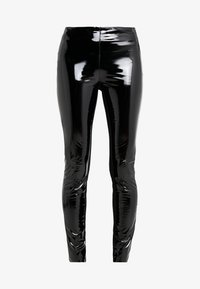 KARL LAGERFELD - PATENT - Leggings - Trousers - black - 4