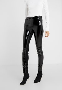 KARL LAGERFELD - PATENT - Leggings - Trousers - black - 0