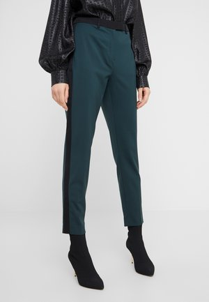 TAILORED CIGARETTE PANTS - Trousers - deep teal