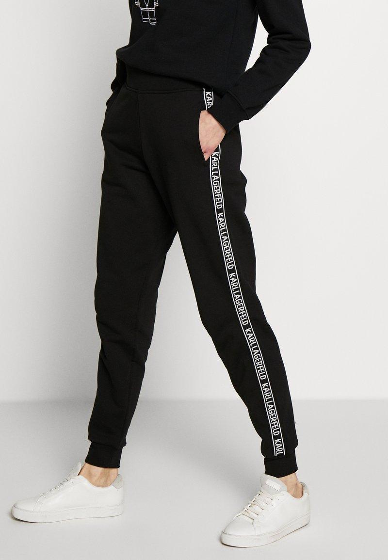 KARL LAGERFELD - PANTS LOGO - Teplákové kalhoty - black