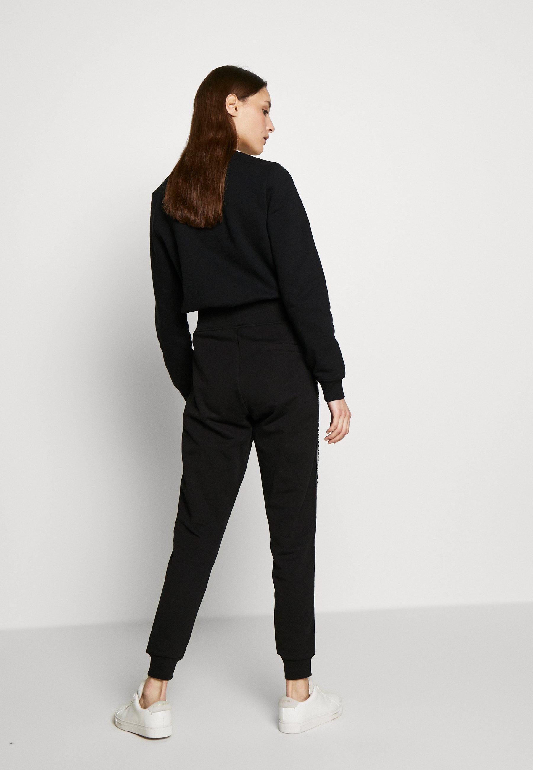 KARL LAGERFELD PANTS LOGO - Spodnie treningowe - black