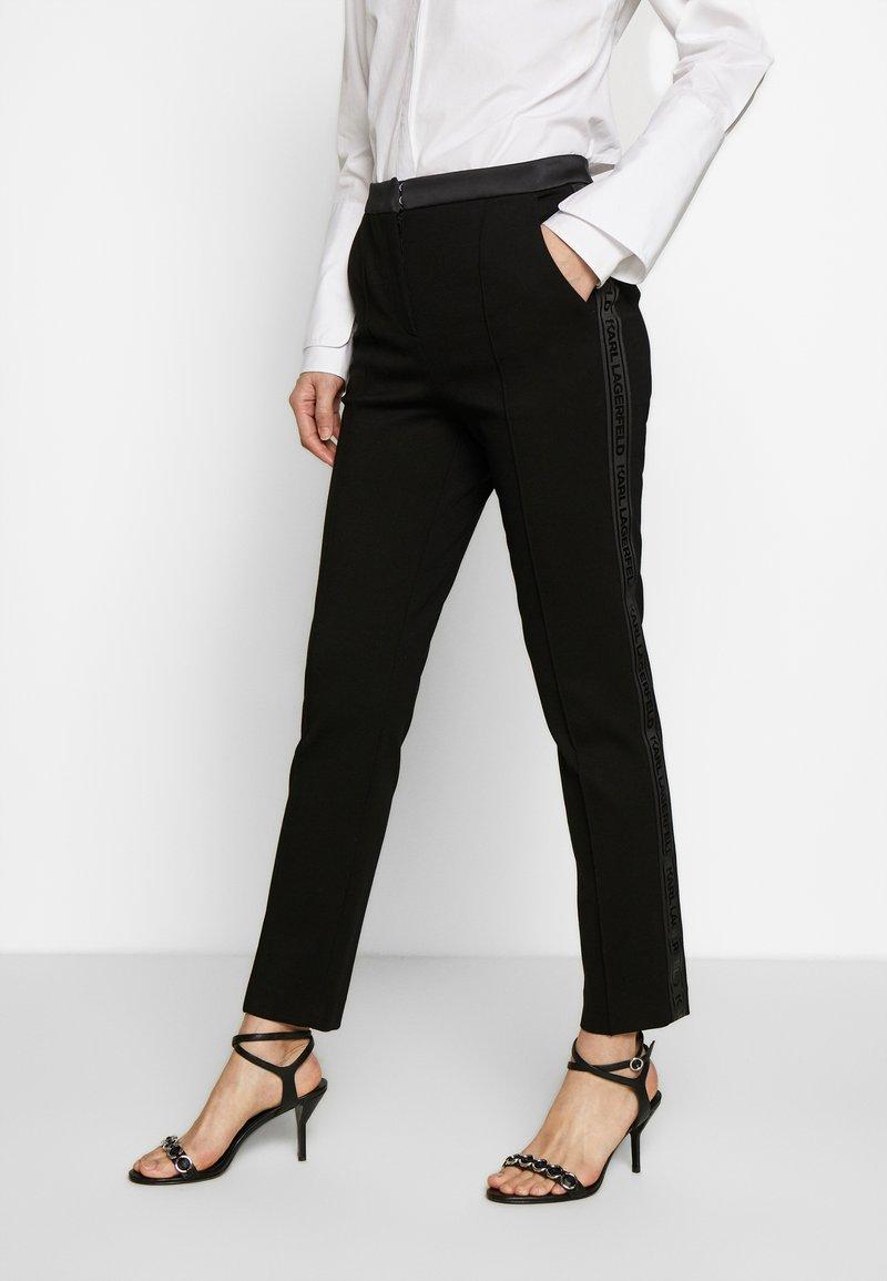 KARL LAGERFELD - PUNTO PANTS  - Trousers - black