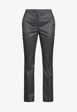SPARKLE TUXEDO PANTS - Bukse - black