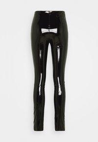 KARL LAGERFELD - PATENT - Leggings - black - 4