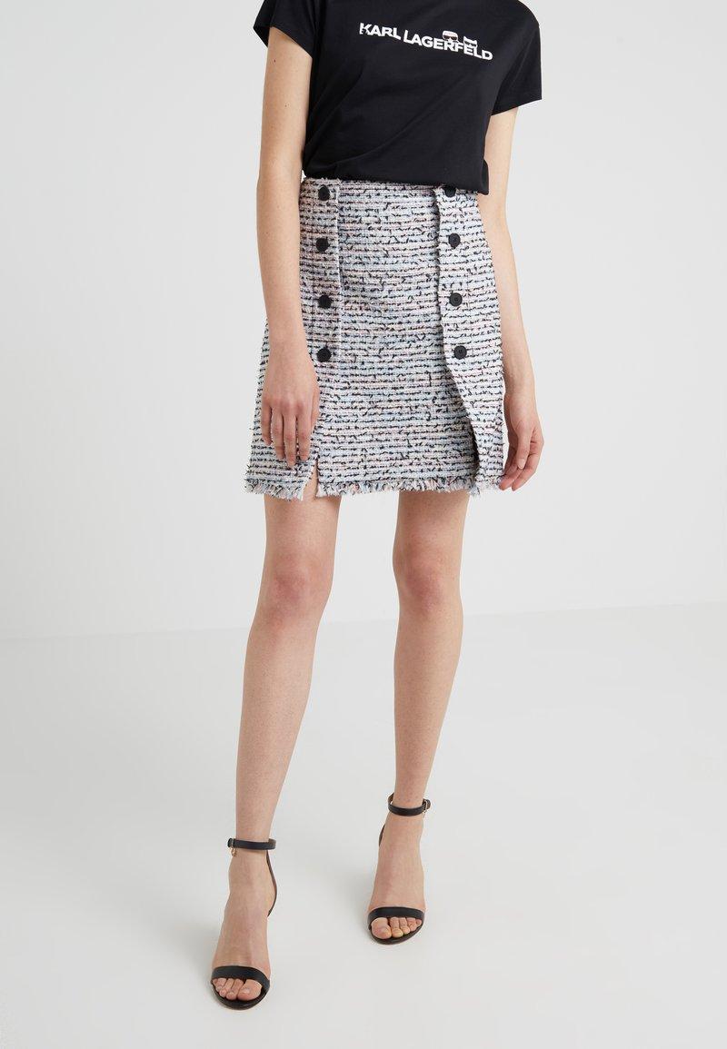 KARL LAGERFELD - BOUCLE SKIRT - A-line skirt - light blue