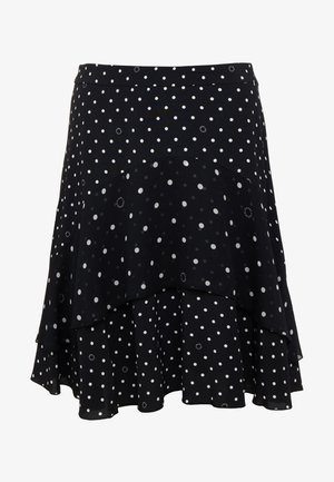 DOTS MIDI SKIRT - A-lijn rok - black