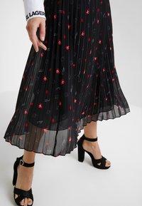 KARL LAGERFELD - PLEAT SKIRT - A-line skirt - black - 4