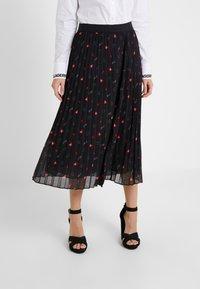 KARL LAGERFELD - PLEAT SKIRT - A-line skirt - black - 0
