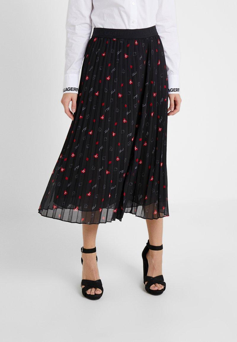 KARL LAGERFELD - PLEAT SKIRT - A-line skirt - black
