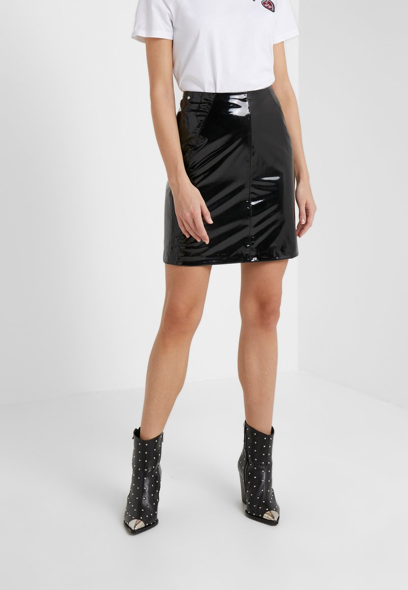 KARL LAGERFELD - Pencil skirt - black