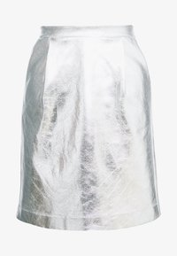 KARL LAGERFELD - COATED SKIRT - Jupe trapèze - silver - 4