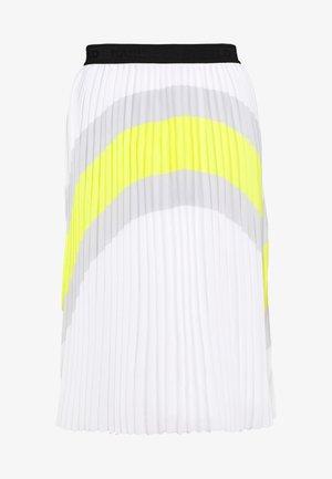 COLOURBLOCK PLEATED SKIRT - Áčková sukně - off white