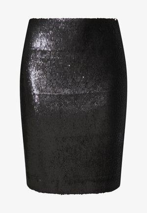 SEQUINS SKIRT - Pouzdrová sukně - black