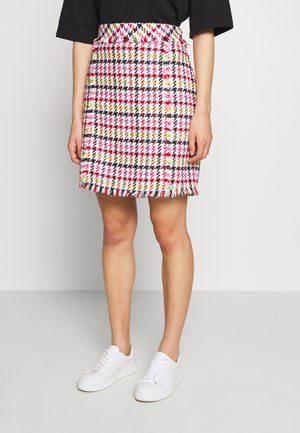 HOUNDSTOOTH SKIRT - A-Linien-Rock - pink