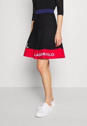 COLORBLOCK SKIRT - Jupe trapèze - black