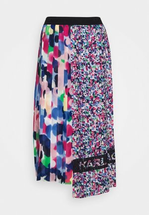 ASYMMETRICAL PLEATED SKIRT - Jupe trapèze - multi-coloured