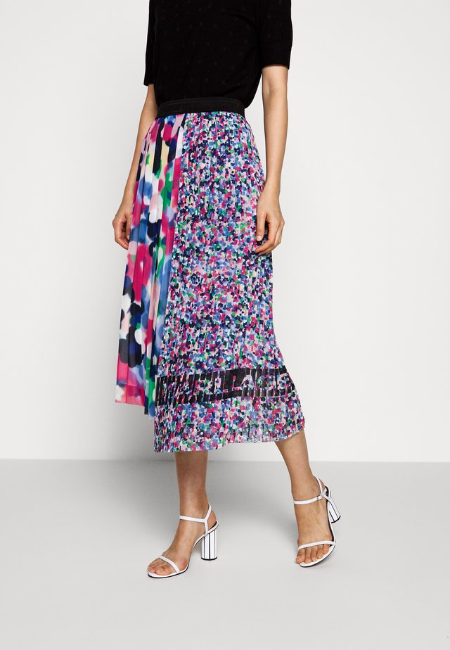 ASYMMETRICAL PLEATED SKIRT - A-line skirt - multi-coloured