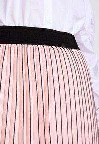 KARL LAGERFELD - PIN STRIPE PLEATED SKIRT - A-line skirt - rose smoke - 4