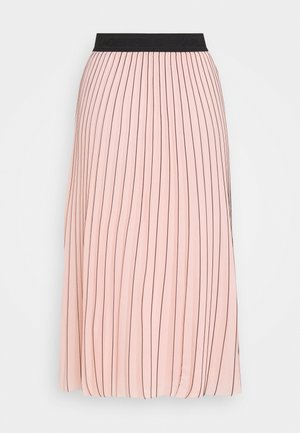 PIN STRIPE PLEATED SKIRT - Áčková sukně - rose smoke