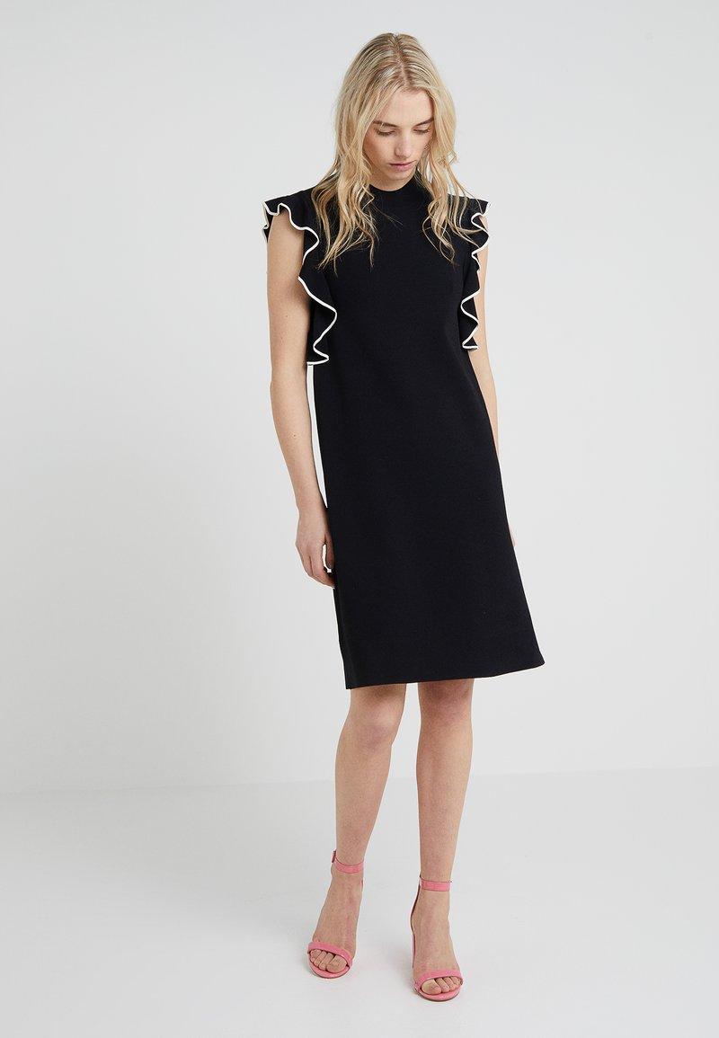 KARL LAGERFELD - SHORTSLEEVE RUFFLE DRESS - Jumper dress - black