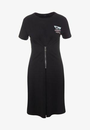 KARLIFORNIA ZIP DRESS - Jersey dress - black