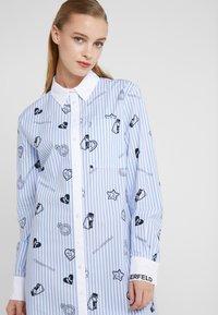 KARL LAGERFELD - SHIRT DRESS - Skjortekjole - blue - 4