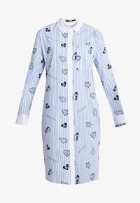 KARL LAGERFELD - SHIRT DRESS - Skjortekjole - blue - 3
