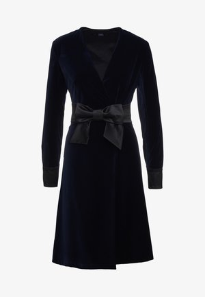 KARL VELVET WRAP DRESS - Robe de soirée - navy