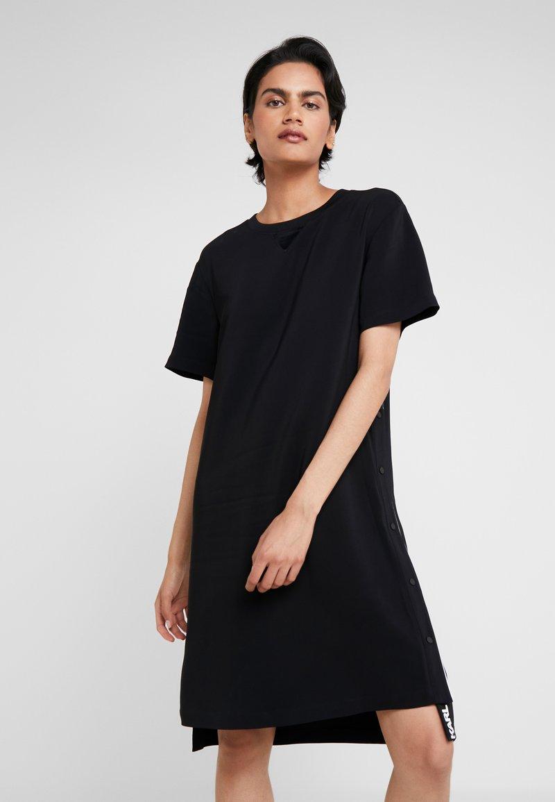 KARL LAGERFELD - DRESS SNAP SIDES - Freizeitkleid - black