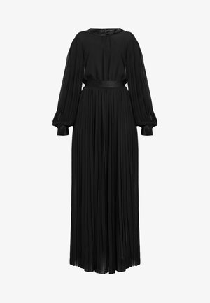 PLEATED MAXI SHIRT DRESS - Robe de cocktail - black
