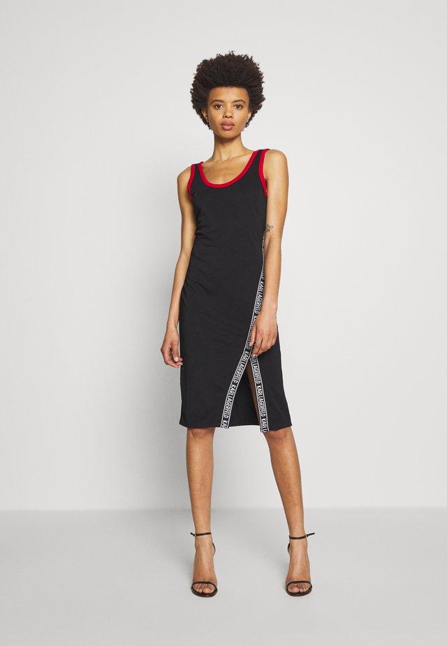 SNAPS DETAIL DRESS - Jerseyklänning - black