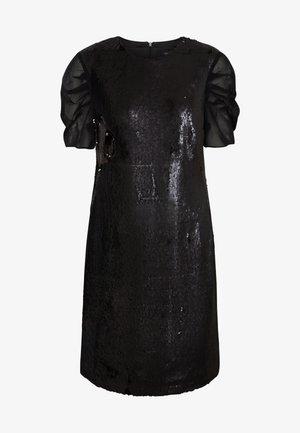 SEQUINS DRESS WITH PUNTO - Cocktail dress / Party dress - black