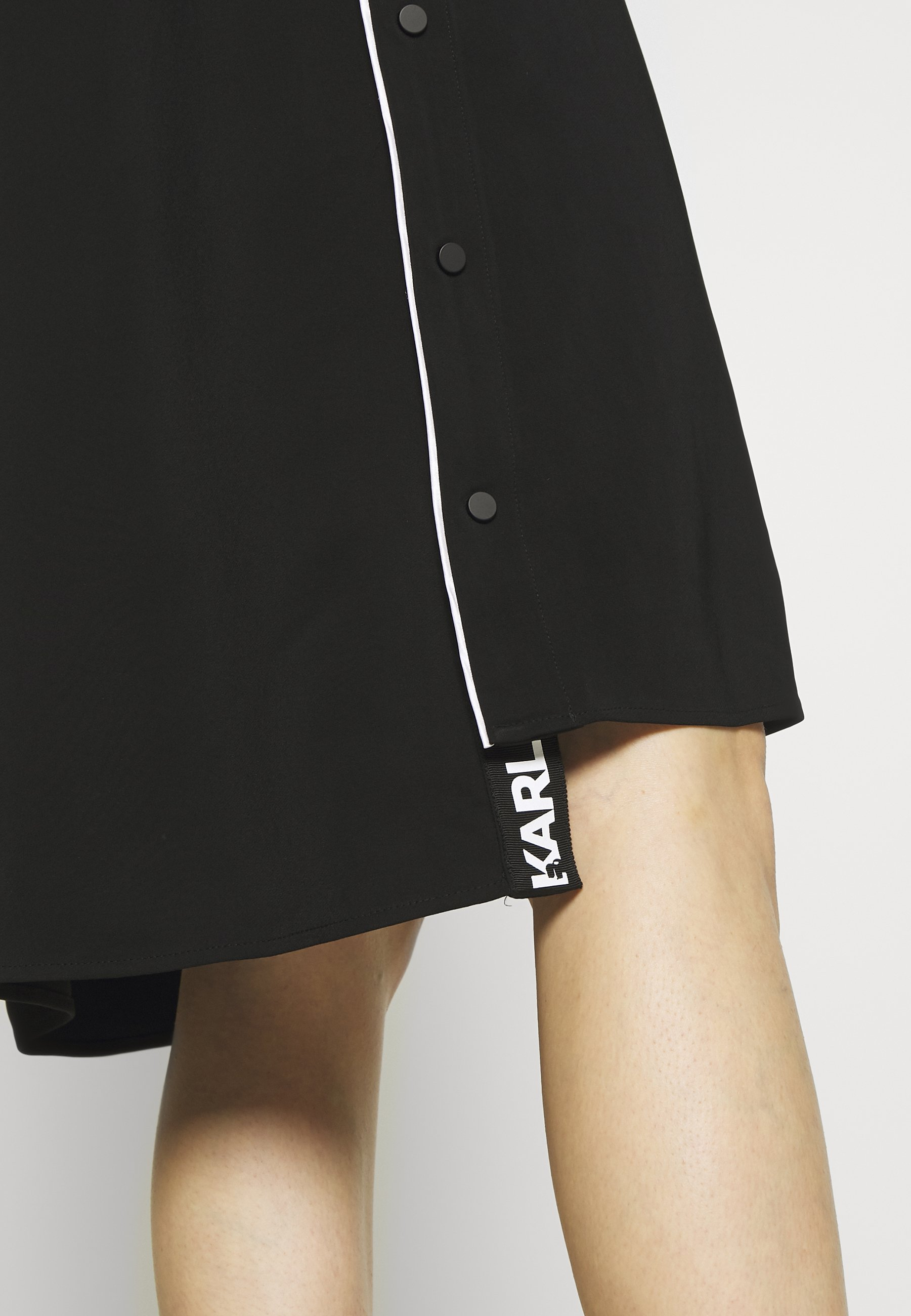 Karl Lagerfeld Cady Dress Snap Details - Day Black