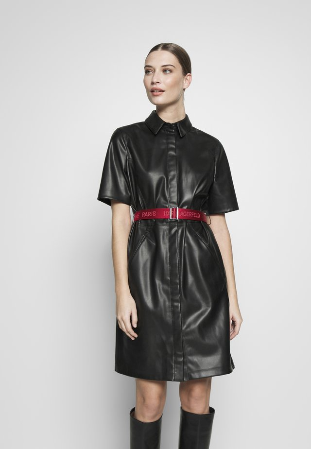 SHIRT DRESS - Vestido de cóctel - black
