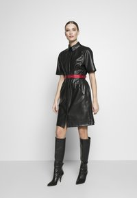 KARL LAGERFELD - SHIRT DRESS - Vestito elegante - black - 1
