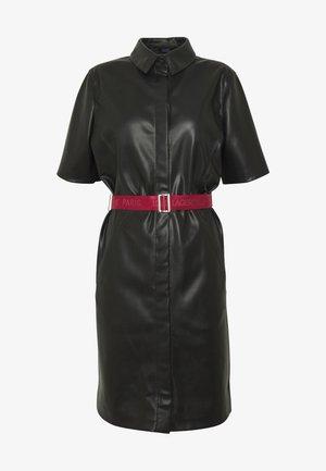 SHIRT DRESS - Cocktailkjole - black