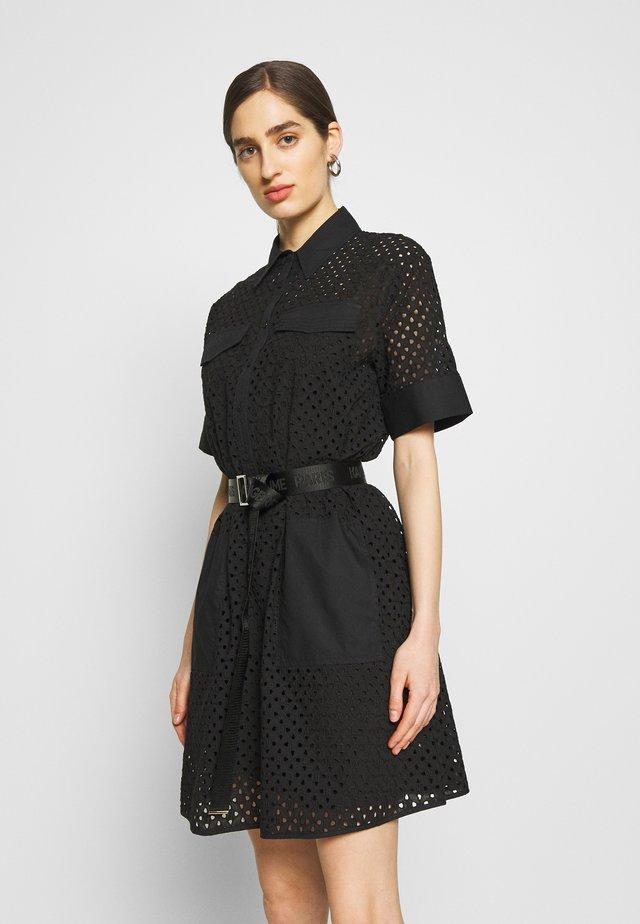 BRODERIE ANGLAIS DRESS - Korte jurk - black