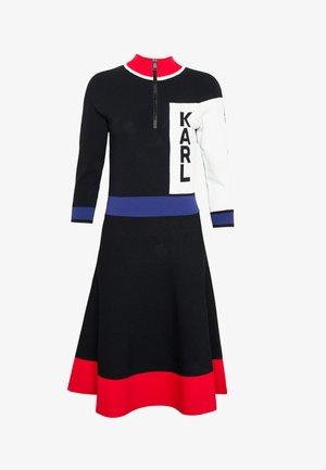 COLORBLOCK LOGO DRESS - Jumper dress - black