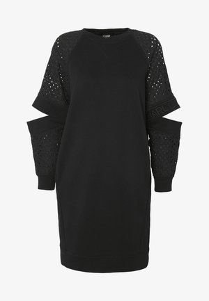 CUT OUT DRESS - Freizeitkleid - black